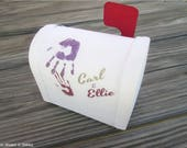MADE TO ORDER Up inspired Carl and Ellie Mailbox trinket / jewelry box in multiple size choices (Customizable with any names!)