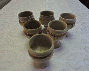 Laurentian Pottery A pair of 2 Tundra Wine Goblets