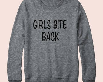 Girls Bite Back - Sweatshirt, Crew Neck, Graphic