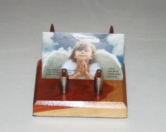 Bullet Business Card Holder Handcrafted Unique 1-of-a-kind