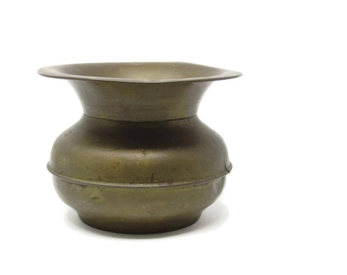 Vintage Brass Spittoon, Planter, Flower Pot, Storage, Vintage Home Decor, Western Decor, Cowboy Decor, Vintage Home Decor, Home Decor Mom
