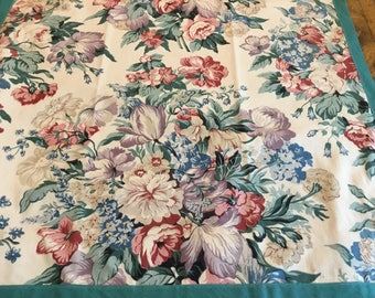 Vintage Long Floral Drapes...so delightful