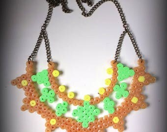Colorful bib necklace boho chic hippie