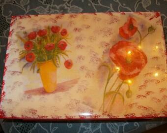 "Box for a sugar kl ""Poppies"""