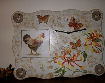Hand made pendulum deco rooster. Single model