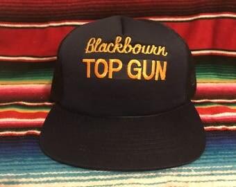 VTG Blackbourn Top Gun Movie Promo Navy Mesh Trucker Snapback hat