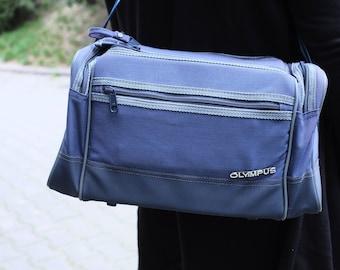 Vintage Blue Camera Bag - Olympus -