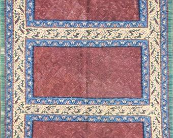 """3'9"""" x 4'7"""" Unique Antique Persian Senneh Kilim, #15457"""
