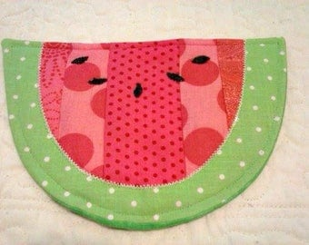 Watermelon Mug Rug - Coaster - Mug Rug