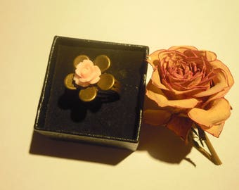 """""""Aiko"""" ring bronze and pink"""