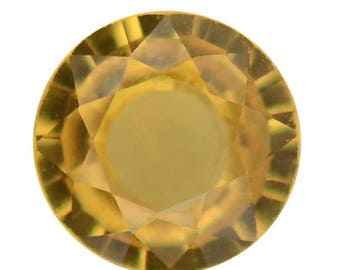 Yellow Sapphire Loose Gemstone Round Cut 1A Quality 4mm TGW 0.20 cts.