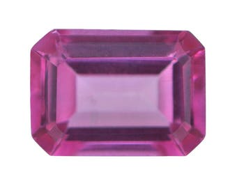 Pink Topaz Octagon Cut Loose Gemstone 1A Quality 7x5mm TGW 0.85 cts.