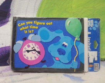 Original BLUES CLUES Birthday Invites NWT. Never used Unopened. Pack of 8