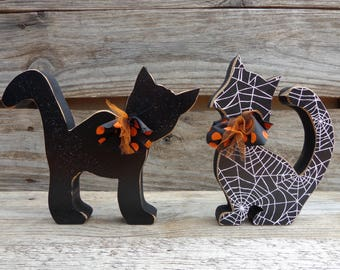 halloween decor fall decor black cat decor scaredy cats halloween cats - Halloween Decor