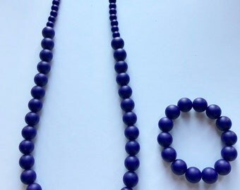 Sale- Navy Pearl Style Set