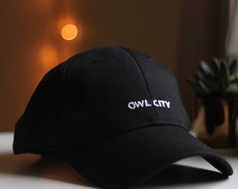 Hand Stitched Owl City Hat