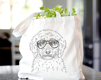Teddy the Labradoodle Dog Canvas Tote Bag - Gifts For Dog Owner, Labradoodle Tote Bag, Dog Lover Bag, Labradoodle Gift, Labradoodle