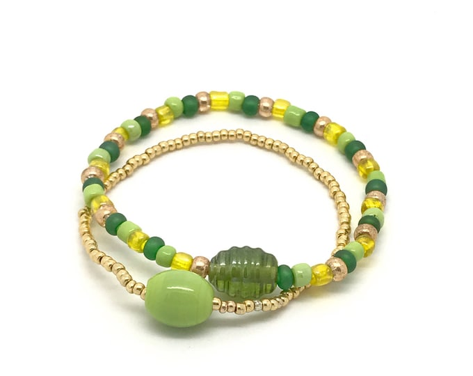 Green bracelet, green crystal bracelet, stretch bracelet, green stretch bracelet, crystal bracelet, stretch crystal bracelet, handcrafted