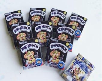 MidYear Sale15% Miniature Cereal Box,Miniature Cereal,Miniature Corn Flakes Box,Miniature breakfast,Dollhouse,Miniature box