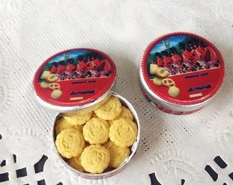 On Sale15% Miniature Cookie in Metal Box,Miniature Biscuit Box,Miniature Box,Miniature Package,Dollhouse Cookie,Dollhouse Box,Miniature Swee