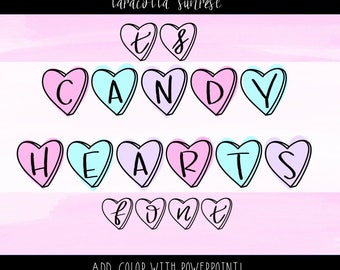 Taracotta Sunrise Valentine's Day Candy Hearts Font