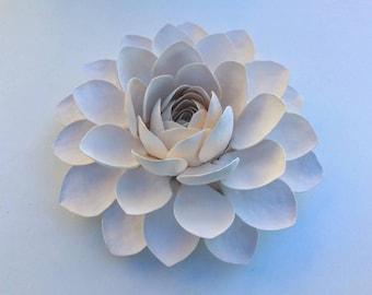 "15"" Porcelain Lotus Wallpiece"