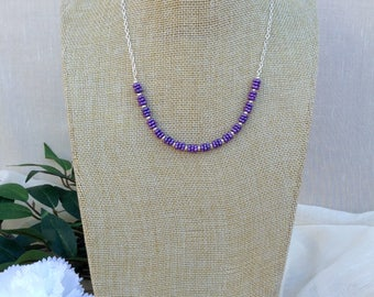 Lilac Glass Necklace     Lilac Summer Necklace