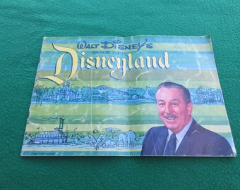 Vintage 1964 Walt Disney Guide to Disneyland