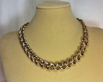 Vintage Shiny Gold Necklace