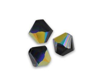 26 Swarovski bicones 4mm Jet AB Swarovski Crystal