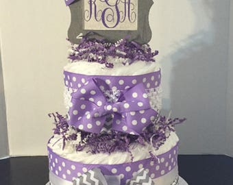 Little Lady Diaper Cake