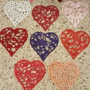 fsl delicate doily free standing lace coaster home decor