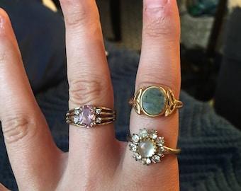 New vintage gemstone rings!
