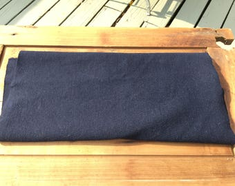 Black/navy Wool vintage fabric stretchy