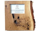 Sustainable, Solid White Oak Knotty/ Burl Wall Frame, handmade by Turning Green