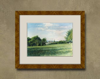 Watercolor of your property - country around Forcalquier