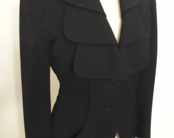 1940s wool gaberdine jacket blazer art deco lapels