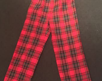 1980's or 1990's red tartan pants - punk
