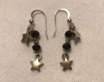Earrings - Metal and Glass