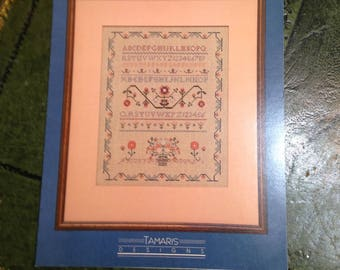 Vintage 1988   -  Counted Cross Stitch Pattern - Graph Sampler Number Four - Tamaris Designs - Cross Stitch Chart/Pattern/Graph