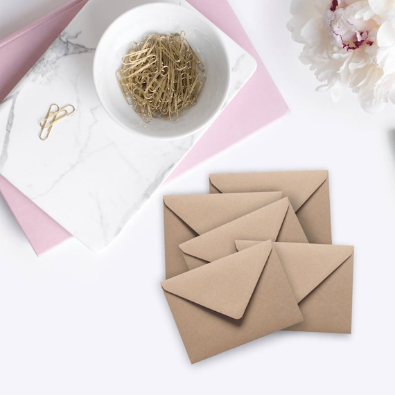50 Mini Kraft Envelopes Seed Envelopes Gift Card Enclosure