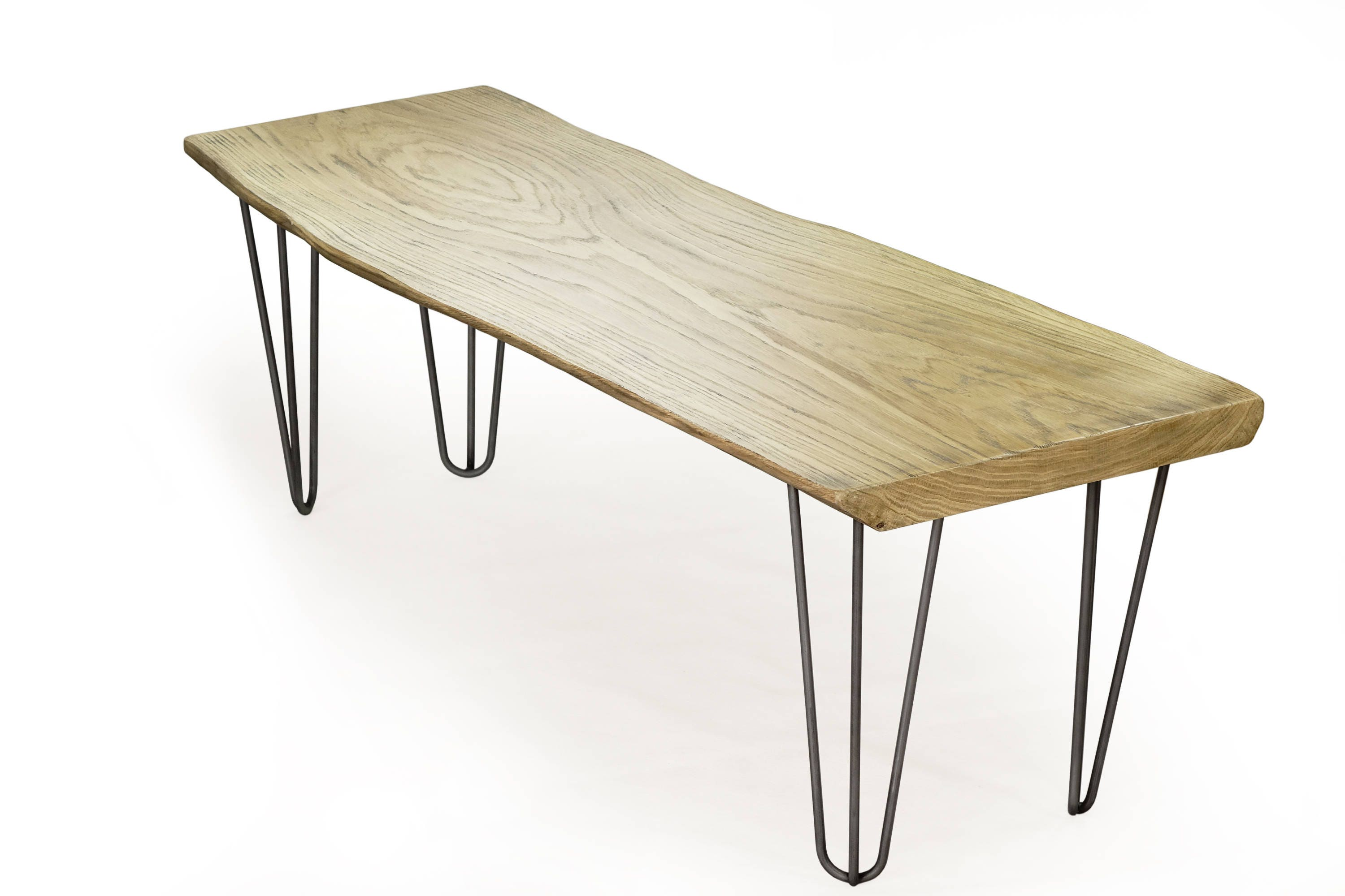 weathered oak table hairpin coffee table