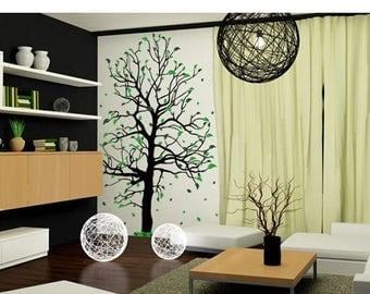 Pochoir arbre bouleau etsy - Stencil parete albero ...