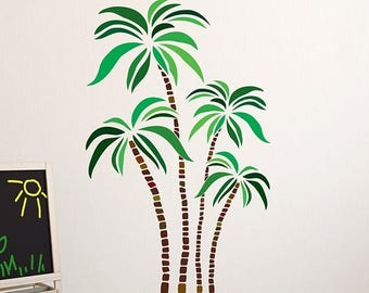 Amazing 25% OFF Black Friday Sale Green And Brown Palm Tree Wall Decal   Floral Wall Part 22