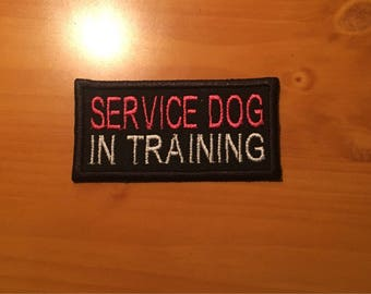 SERVICE DOG in TRAINING - patch