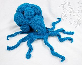 Octopus Amish Puzzle Ball, Photo Prop, Crocheted Puzzle Ball, Handmade Puzzle Ball, Baby Shower Gift, Crochet Octopus, Stuffed Sea Creature