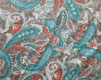 Paisley Leaves Cotton Fabric Sold by the yard