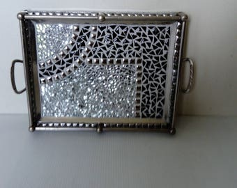 Art deco revisited mosaic tray