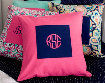Monogrammed Dorm Pillowcase / Monogrammed Pillowcase