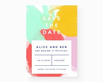 Modern + Bright Save the Date